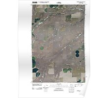 USGS Topo Map Washington State WA Draper Lake 20110401 TM Poster