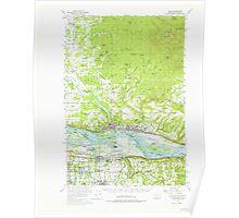 USGS Topo Map Washington State WA Camas 240315 1954 62500 Poster