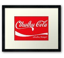 Cthulhu Cola Framed Print
