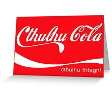 Cthulhu Cola Greeting Card