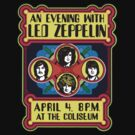 Led Zeppelin Concert T-Shirt by retrorebirth