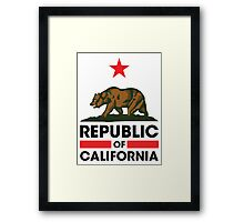 Republic of California Framed Print