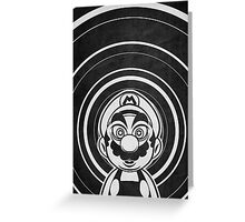 Super Mario Tripping Bros. Geek Line Artly  Greeting Card