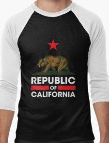 Republic of California - Dark Men's Baseball ¾ T-Shirt