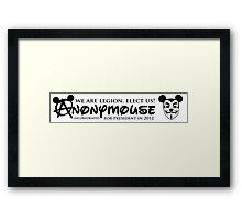 Elect Anonymouse Framed Print
