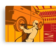 Mechanic Automotive Repairman Retro Canvas Print