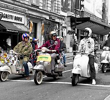 Mods on scooters by Dean Bedding