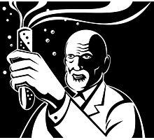 Crazy Mad Scientist Test Tube Photographic Print