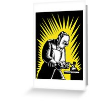 Welder Metal Worker Welding Retro Greeting Card