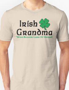 "Irish Grandma ""Wee Bonnie Lass at Heart"" Unisex T-Shirt"