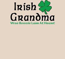 "Irish Grandma ""Wee Bonnie Lass at Heart"" Womens Fitted T-Shirt"