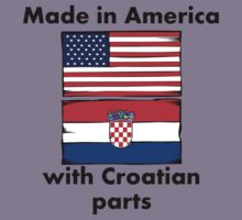Made In America With Croatian Parts Kids Tee