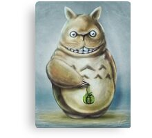 Totoro Communis Domestica Tra Digital Painting Canvas Print