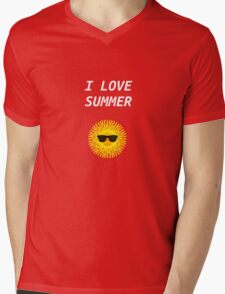 I LOVE SUMMER Mens V-Neck T-Shirt