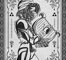Legend of Zelda Shiek Princess Geek Line Artly  by barrettbiggers