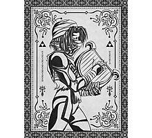 Legend of Zelda Shiek Princess Geek Line Artly  Photographic Print
