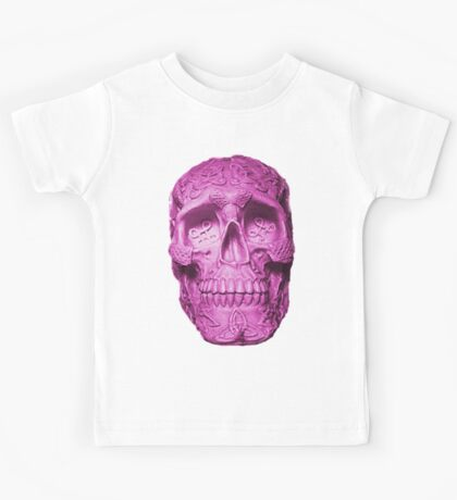 Neon Celtic Skull Kids Tee