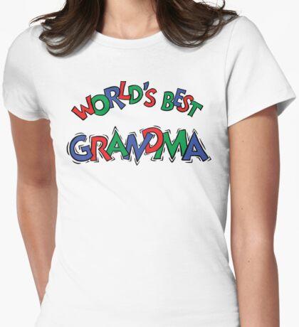 "Grandma ""World's Best Grandma"" Womens Fitted T-Shirt"
