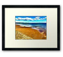Bridlington beach Framed Print