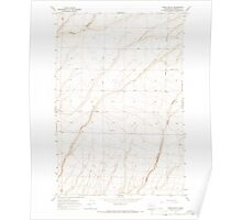 USGS Topo Map Washington State WA Prior Ranch 243289 1965 24000 Poster