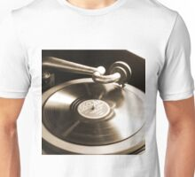 Old Phonograph with a Record Album Unisex T-Shirt