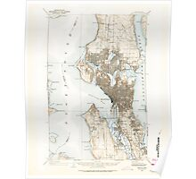 USGS Topo Map Washington State WA Seattle 243638 1908 62500 Poster
