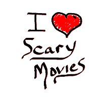 i love halloween scary movies  Photographic Print