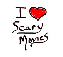 i love halloween scary movies  Photographic Print