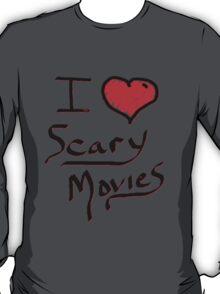 i love halloween scary movies  T-Shirt