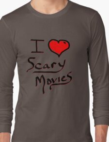 i love halloween scary movies  Long Sleeve T-Shirt