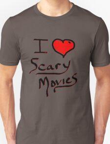 i love halloween scary movies  Unisex T-Shirt