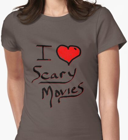 i love halloween scary movies  Womens Fitted T-Shirt