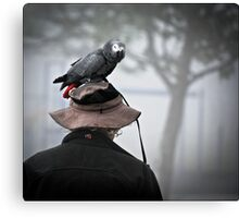 I always wear a bird on my head Canvas Print