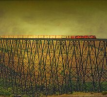 Lethbridge Train Trestle VI by Vickie Emms
