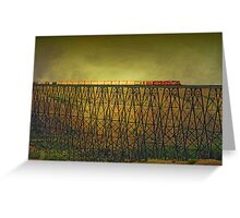 Lethbridge Train Trestle VI Greeting Card