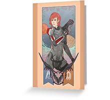 Commander Shepard Greeting Card