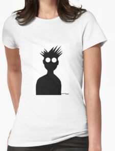 cut out paper self Womens Fitted T-Shirt