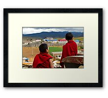 Two Young Monks Framed Print
