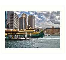 Sydney Harbor Ferry Art Print