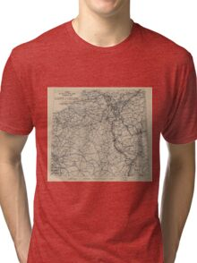 March 3 1945 World War II Twelfth Army Group Situation Map Tri-blend T-Shirt