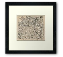 March 3 1945 World War II Twelfth Army Group Situation Map Framed Print