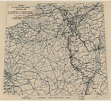 March 3 1945 World War II Twelfth Army Group Situation Map Photographic Print