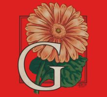 G is for Gerbera - patch Kids Clothes