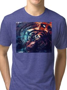 Tiger sleeping Tri-blend T-Shirt