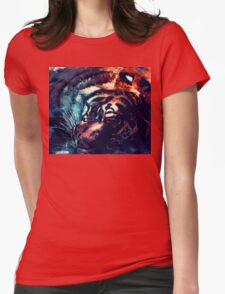 Tiger sleeping Womens Fitted T-Shirt