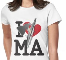 I LOVE Massachusetts  Womens Fitted T-Shirt