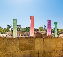 Colonnade In Beit She'an Israel by SharonYanai