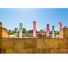 Colonnade In Beit She'an Israel Photographic Print