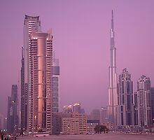 Evening in Dubai from Business Bay by Ian Mitchell