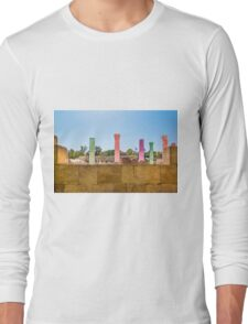 Colonnade In Beit She'an Israel Long Sleeve T-Shirt
